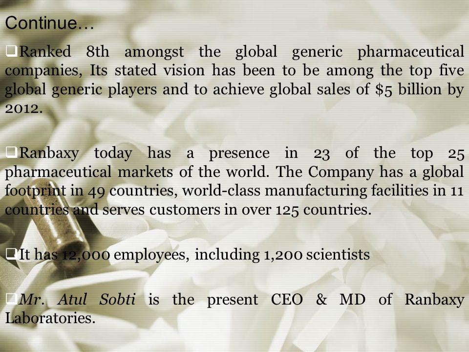 RANBAXY LABORATORIES LIMITED  Ranbaxy Laboratories Limited