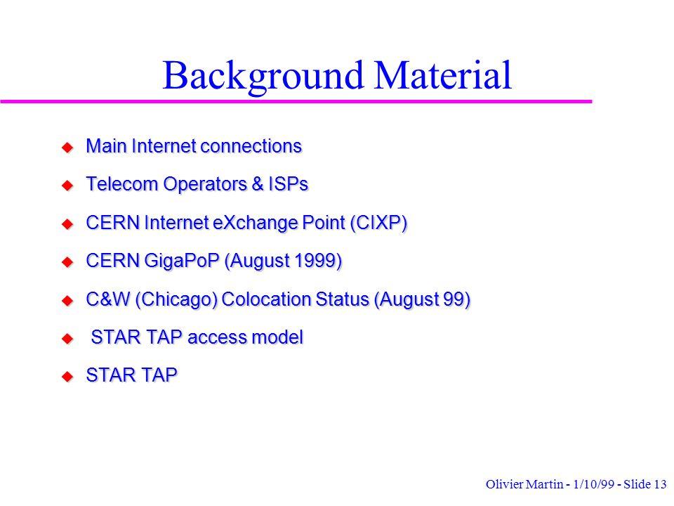 Olivier Martin - 1/10/99 - Slide 1 LCB Computing Workshop (Marseille