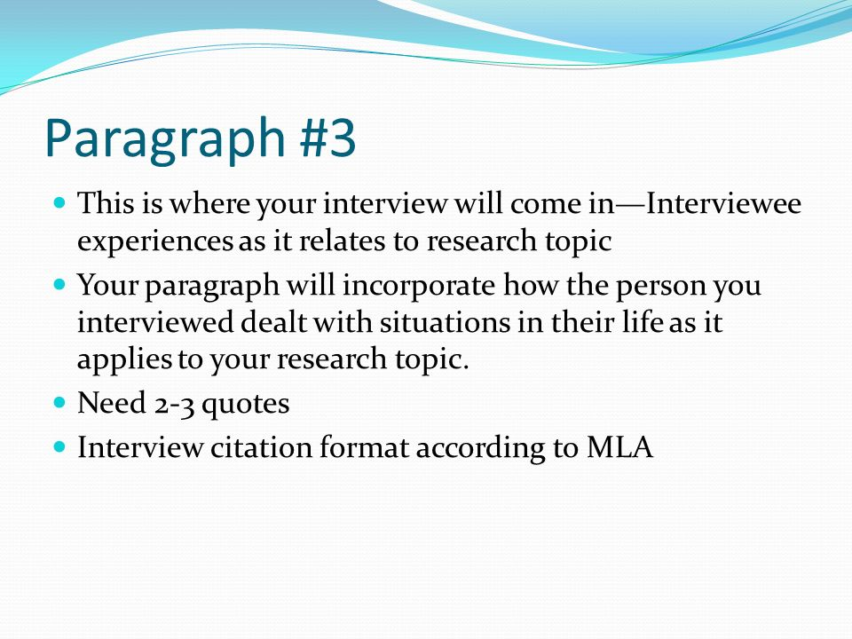 mla interview citation example