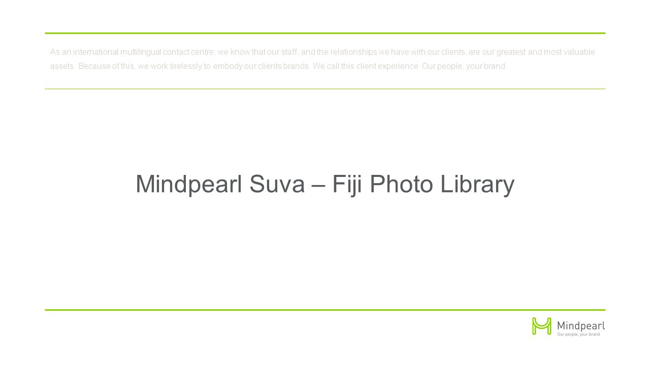Mindpearl Suva - Fiji Islands Overview and Photos Presented