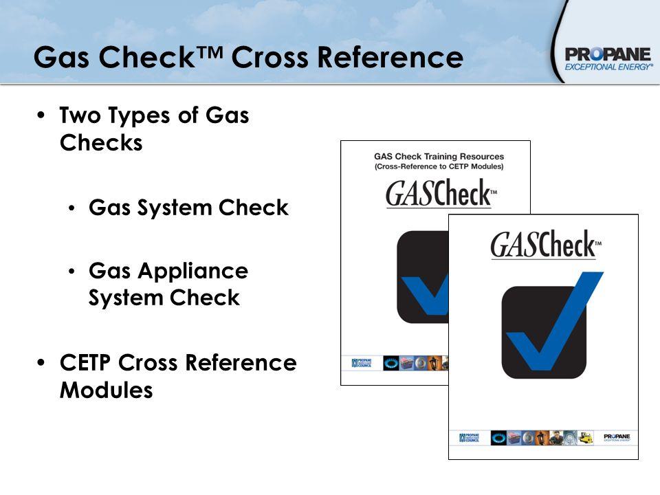 PERC Safety & Training Webinar Gas Check™ CETP  Gas Check™ Cross