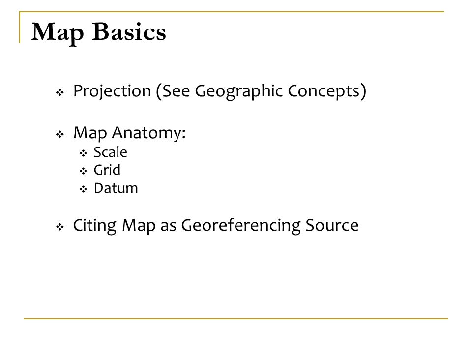 Georeferencing with Paper Maps  Map Basics  How to Georeference ...