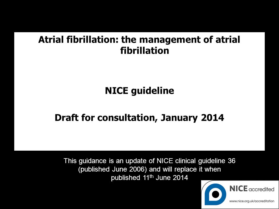 The imminent NICE guidelines for AF – what are the