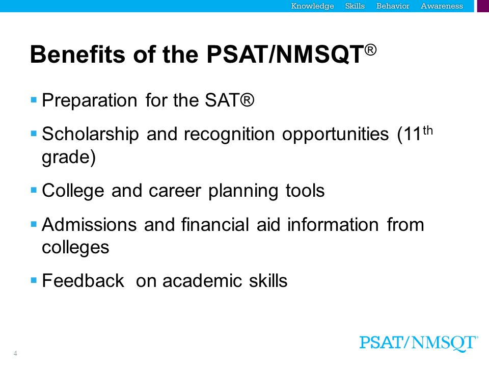 1 what is the psat nmsqt 2 a brief overview of the presentation