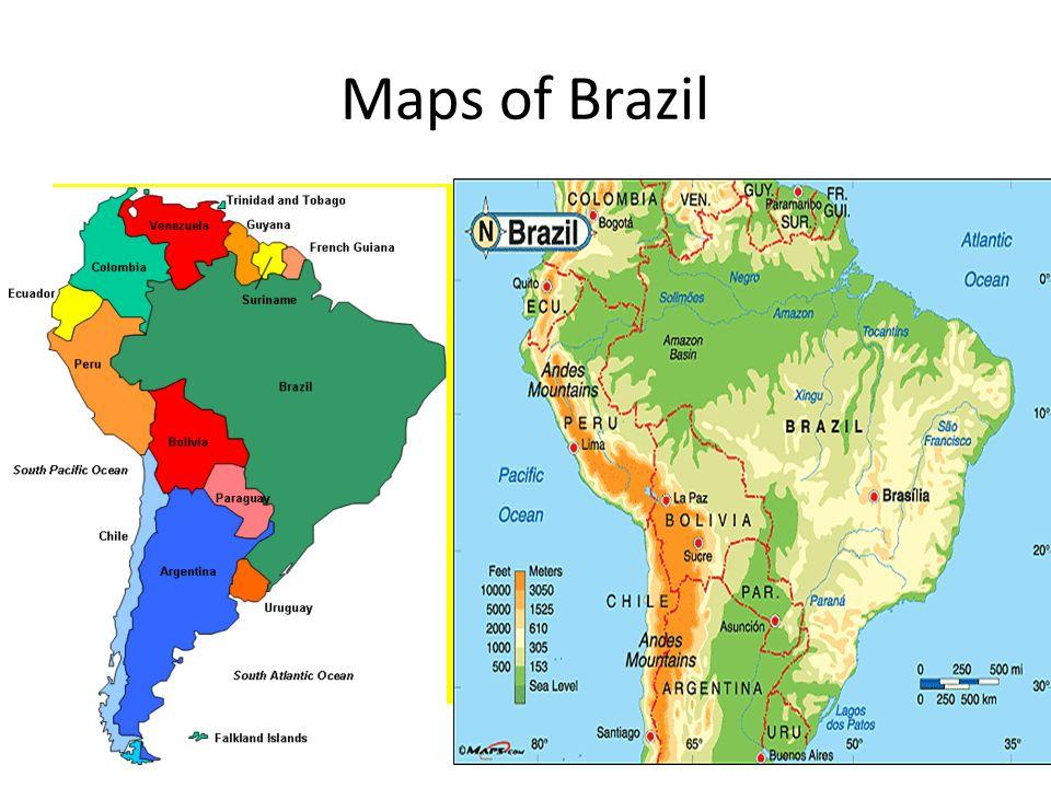 World map of Brazil Brazil is in South America. Maps of Brazil ...
