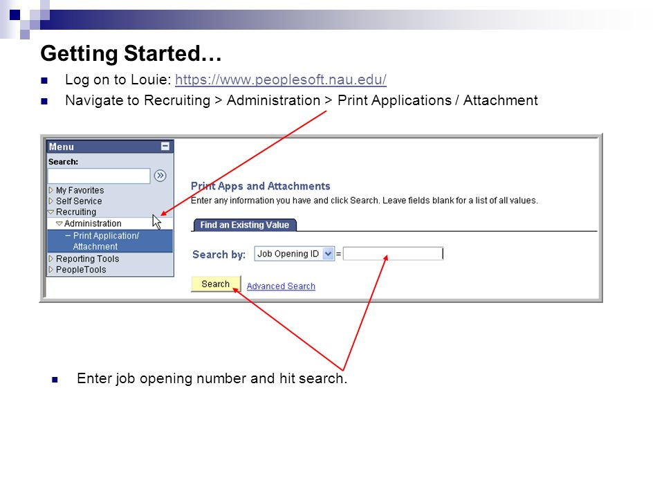 printing employment applications step by step instructions for