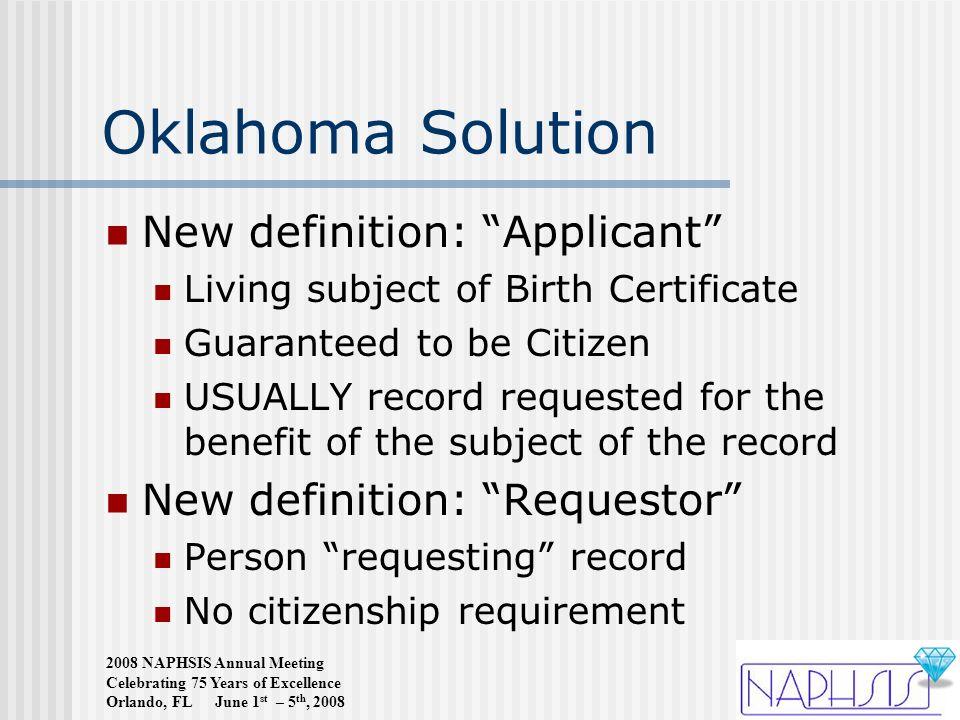 Impact Of New Immigration Law On Oklahoma Vital Records Kelly Baker