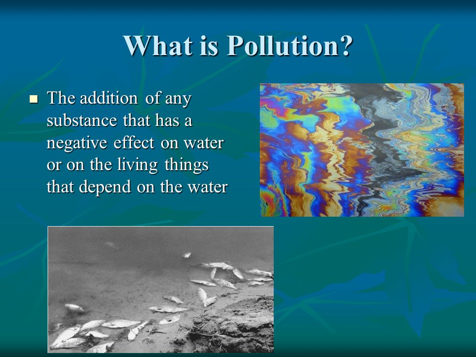 What is Pollution.
