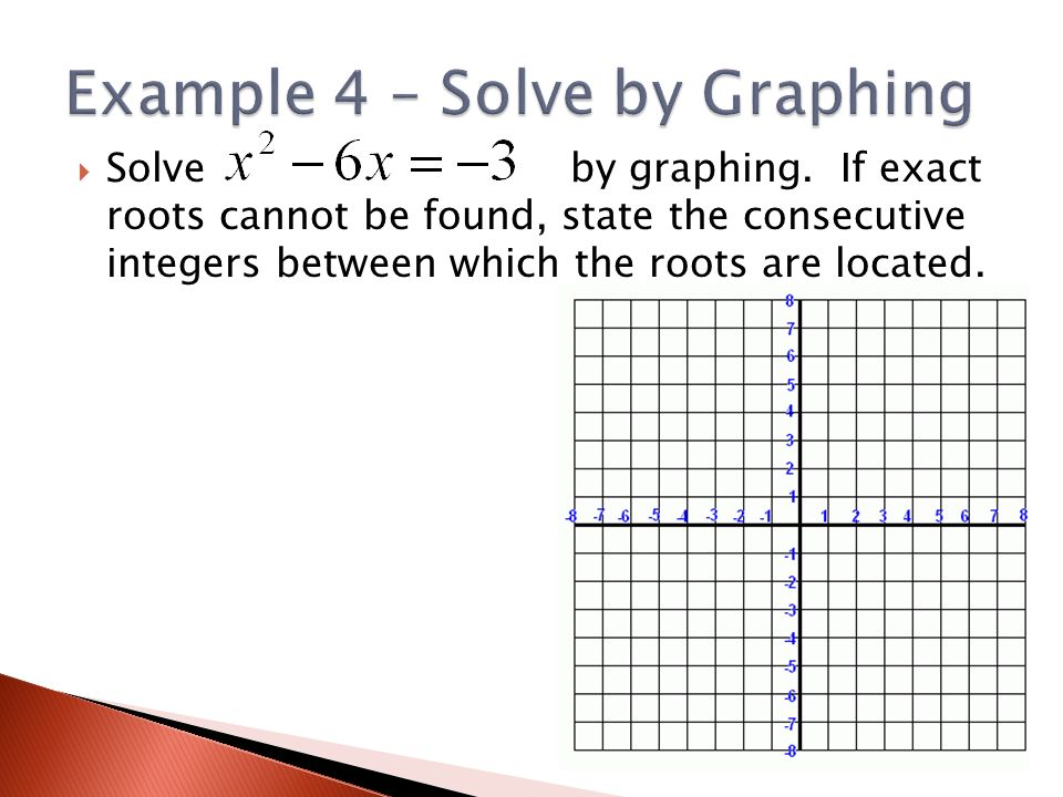 Solve by graphing.