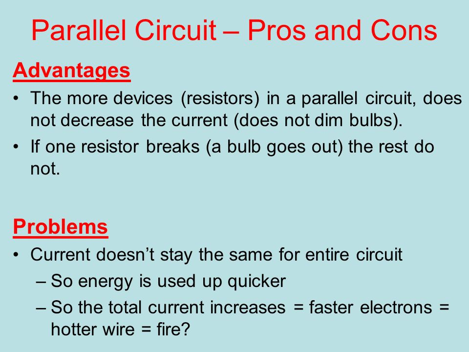 Series and Parallel How we wire the world. Series vs Parallel ...