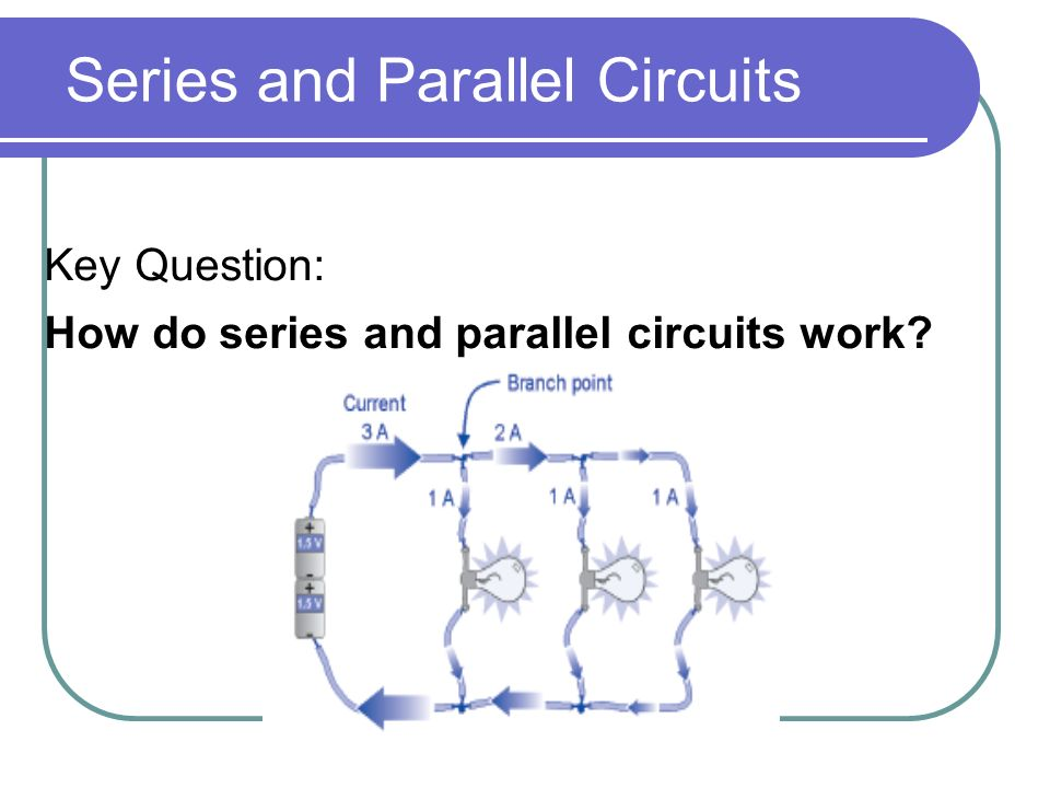 Series and Parallel Circuits Key Question: How do series and parallel circuits work