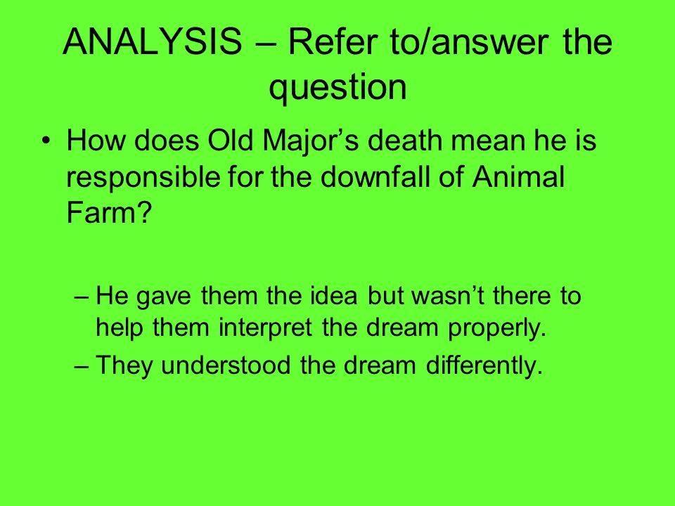 Animal Farm Writing A Critical Essay Question Animal Farm