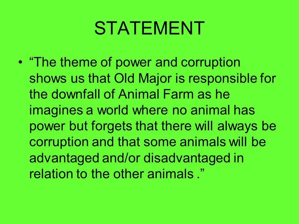 corruption theme statement
