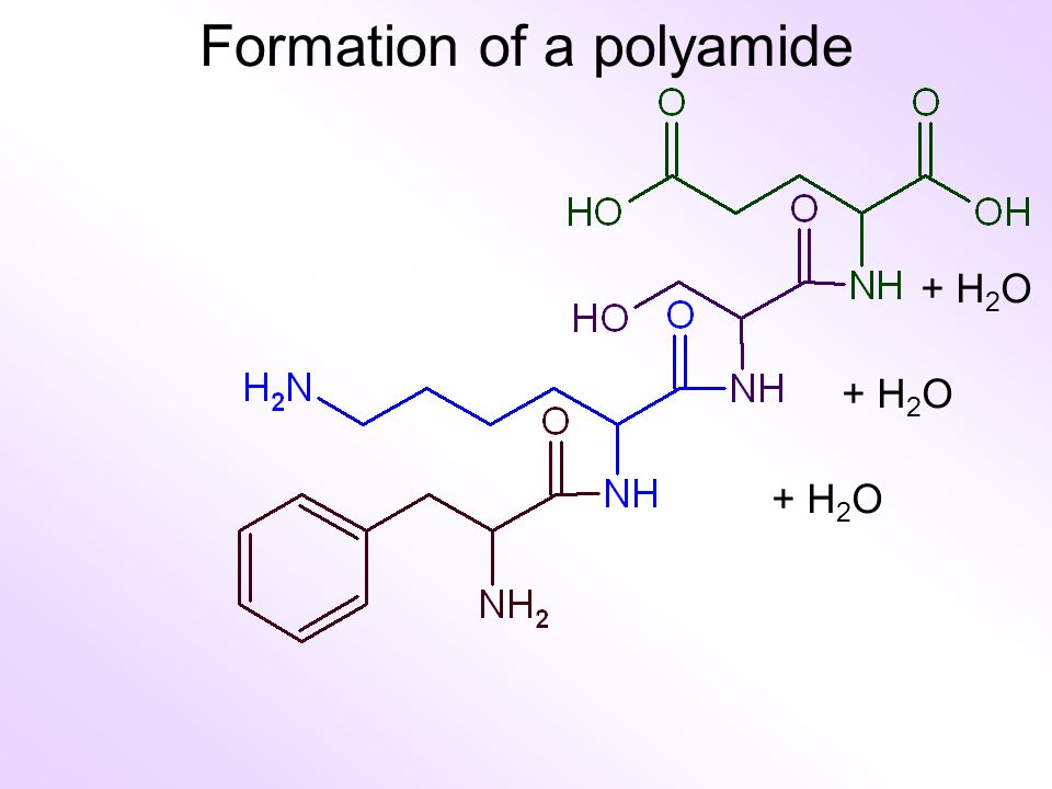 + H 2 O Formation of a polyamide