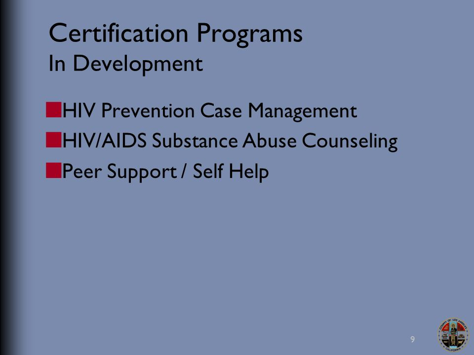 Certification for HIV/AIDS Case Management Elizabeth Boyce, LCSW ...