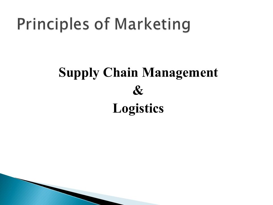 Supply Chain Management & Logistics