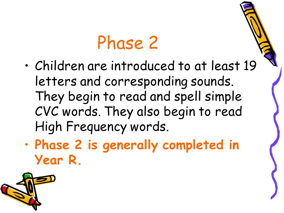 Phase 1 Children explore sounds and words and develop awareness of rhyme, rhythm and alliteration.