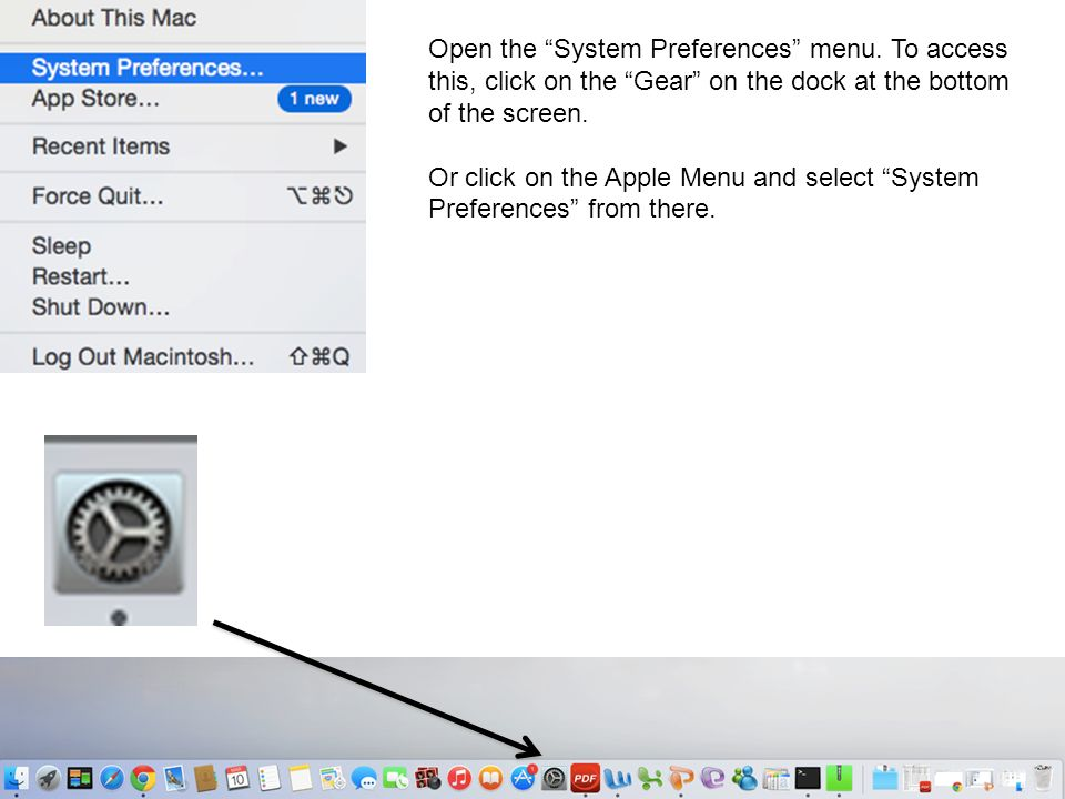 Open the System Preferences menu.