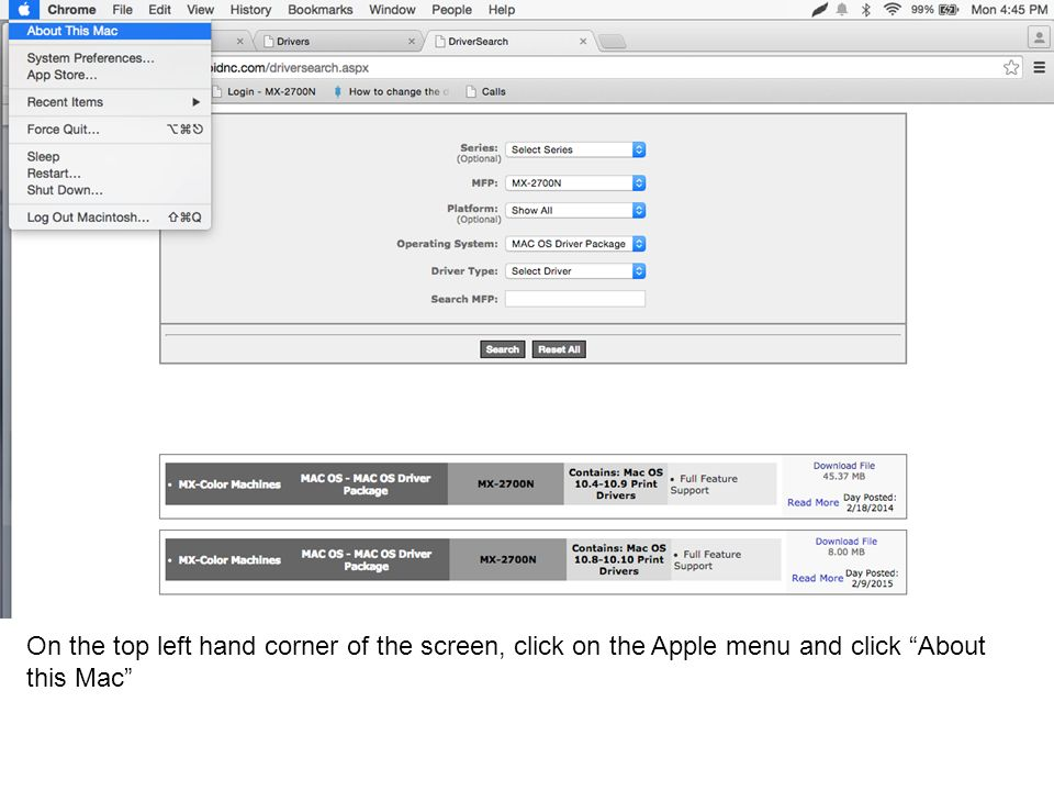 On the top left hand corner of the screen, click on the Apple menu and click About this Mac