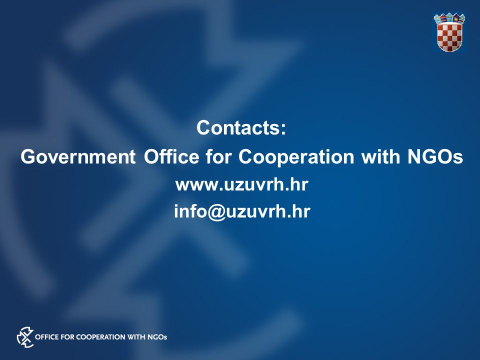 Contacts: Government Office for Cooperation with NGOs