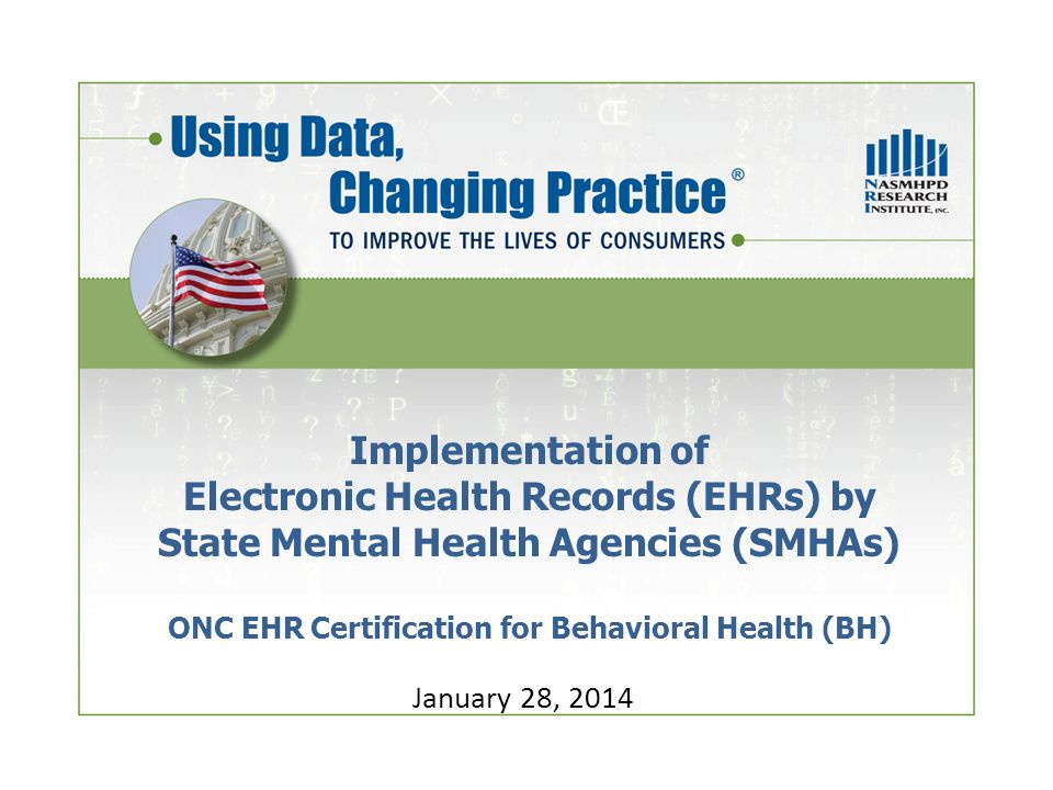 Implementation of Electronic Health Records (EHRs) by State Mental ...