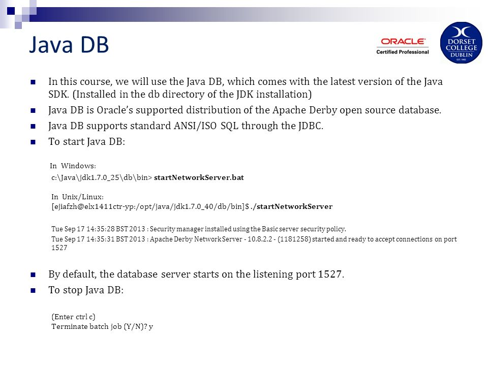 Database applications with JDBC Jiafan Zhou  DBMS Database