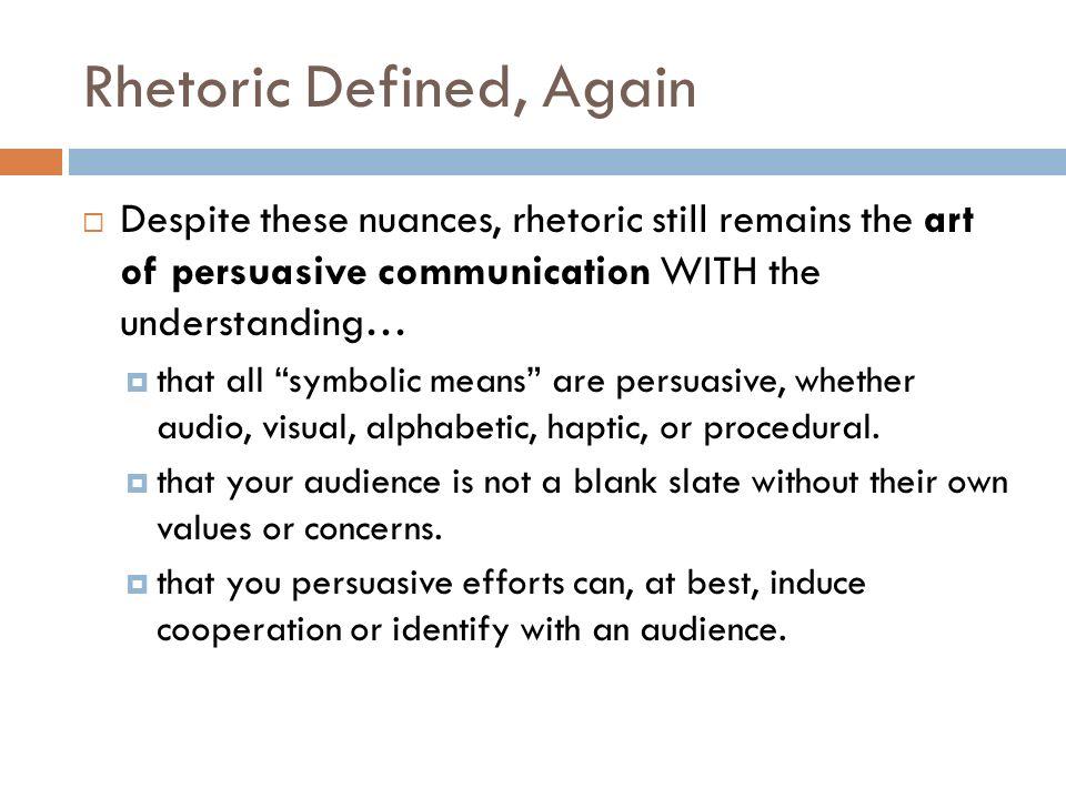 rhetorical means definition