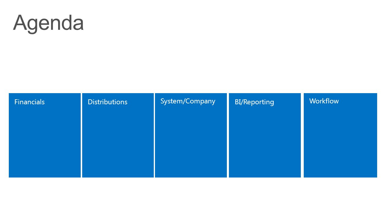 BI/ReportingFinancials System/Company Distributions Workflow