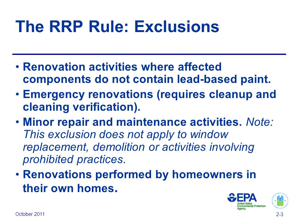 October Module 2 Regulations Us Environmental Protection Agency