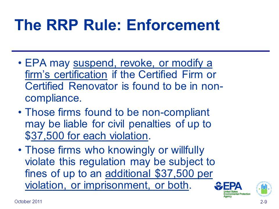 October Module 2: Regulations U.S. Environmental Protection Agency ...