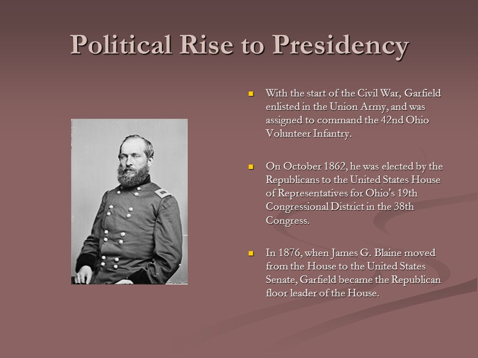 James A Garfield 20 Th President Of The United States Of America 20 Th President Of The United States Of America Presidential Term March 4 September Ppt Download
