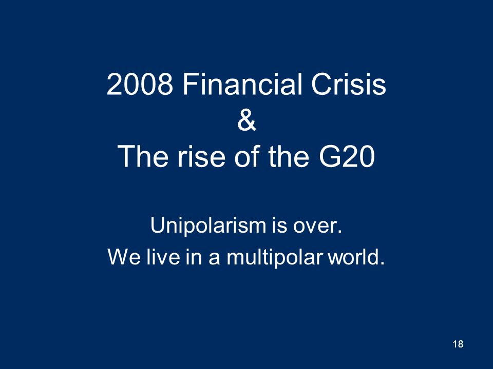 Image result for we live in a multi-polar world