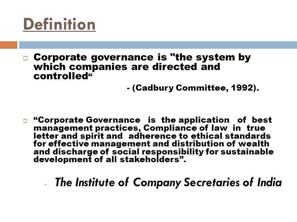 cadbury corporate objectives