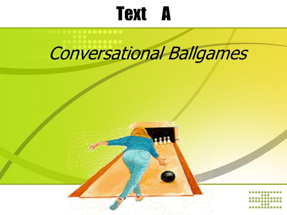 conversational ballgames essay