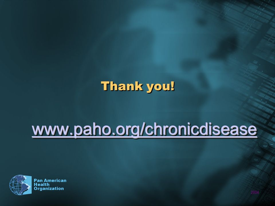 2004 Pan American Health Organization Thank you!