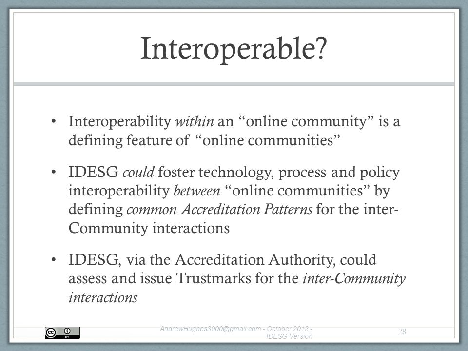 Interoperable.