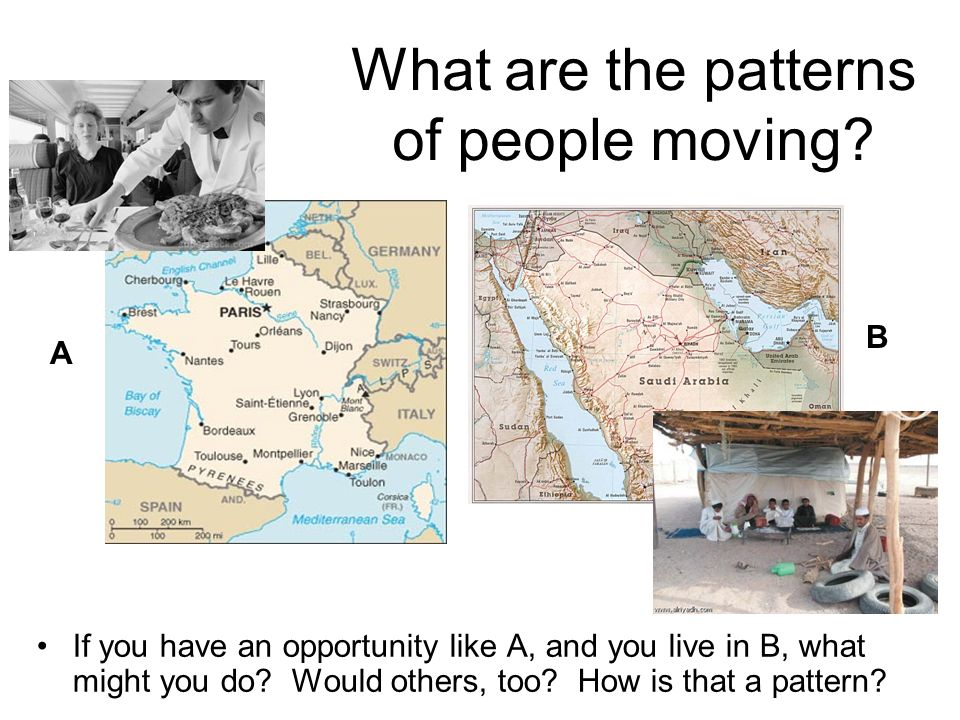What are the patterns of people moving.