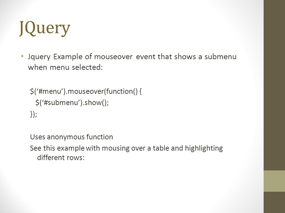 Javascript/jquery how to change image on hover youtube.