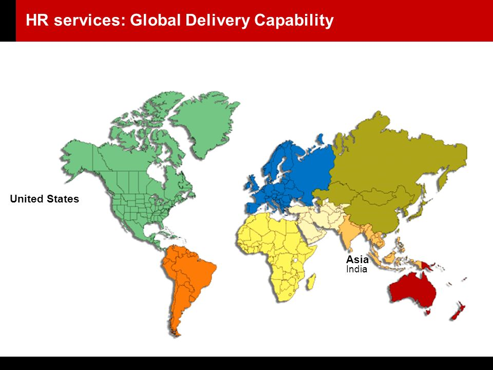 United States Asia India HR services: Global Delivery Capability
