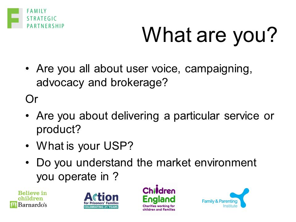 What are you. Are you all about user voice, campaigning, advocacy and brokerage.