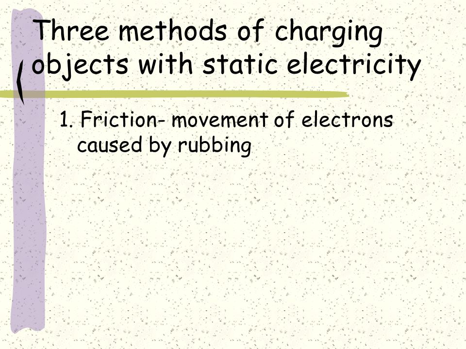Three methods of charging objects with static electricity 1.