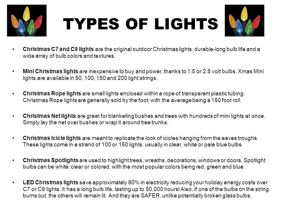 types of lights christmas c7 and c9 lights are the original outdoor christmas lights durable