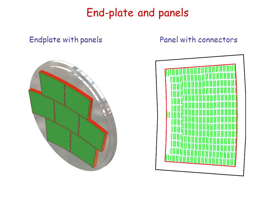 End-plate and panels Endplate with panelsPanel with connectors