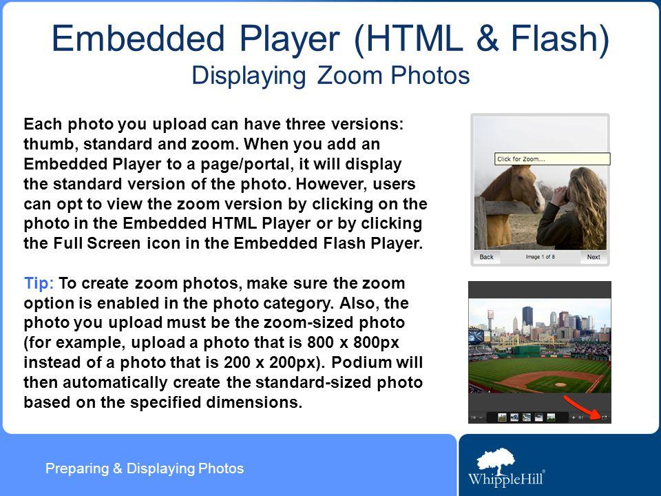 Preparing & Displaying Photos Photo Display Options Last