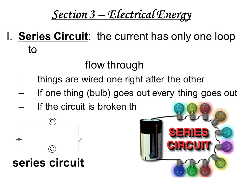 Section 3 – Electrical Energy I.