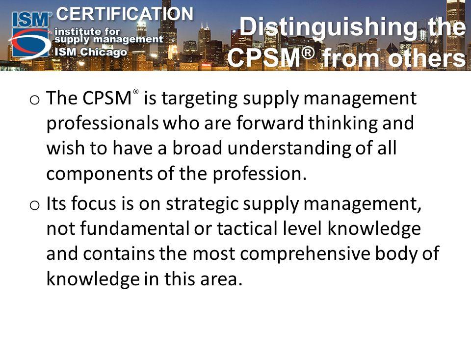 Certification Certification Ism Certification David Sieben Cpsm