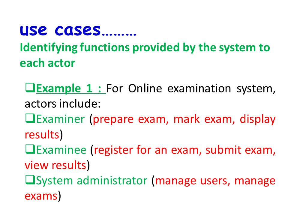 Project analysis course week 2 activities ppt download 11 use cases ccuart Images