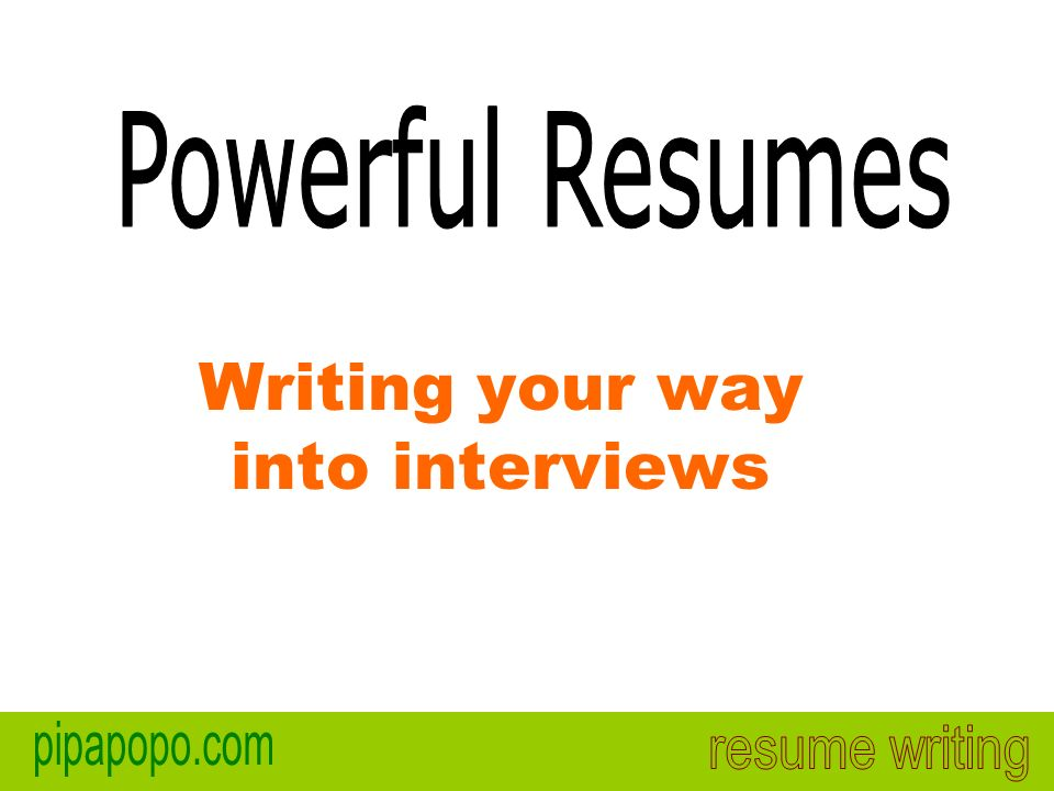 Writing your way into interviews