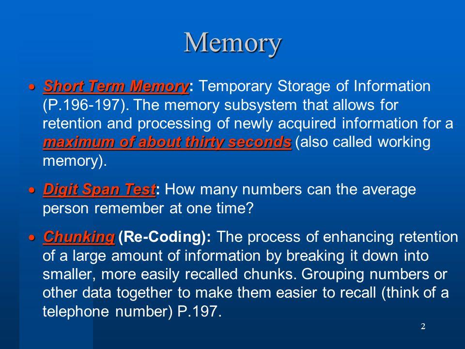 Chapter 6 Memory Michael L Farris Psychology Ppt Download