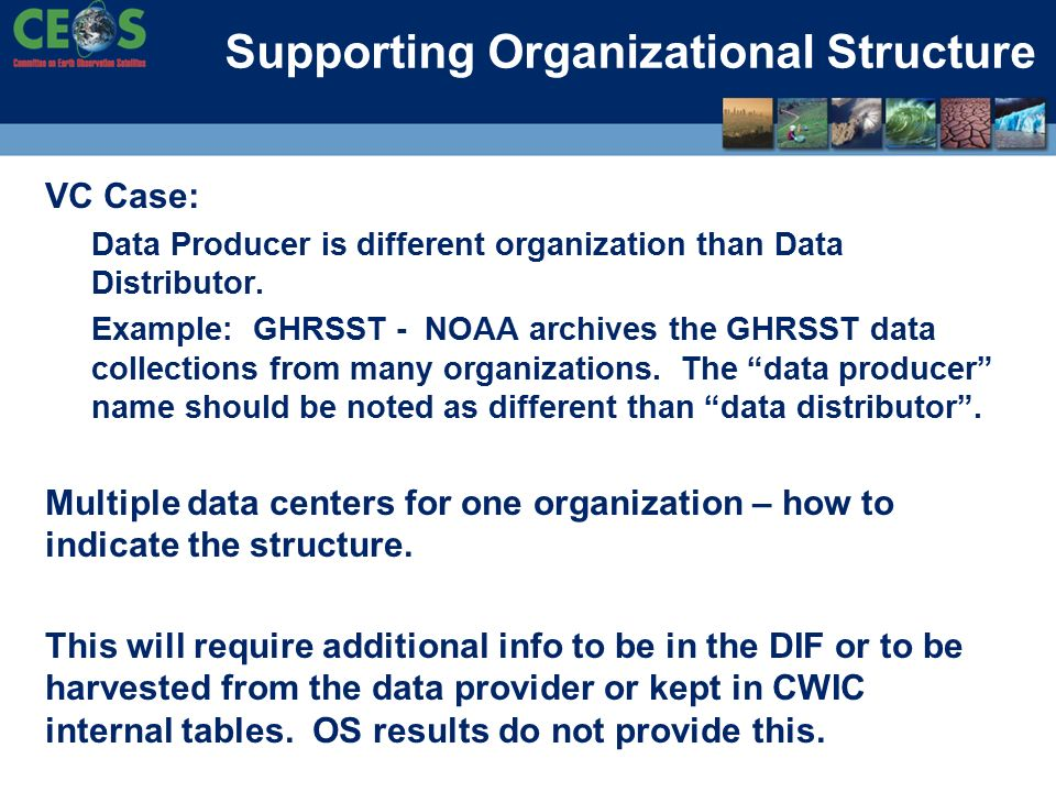 VC Case: Data Producer is different organization than Data Distributor.